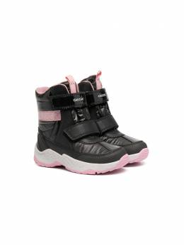 Geox Kids touch-strap ankle boots J04CFB0FEFUC0618