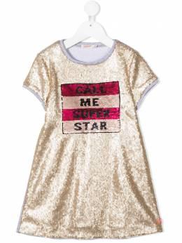 Billieblush платье-футболка с пайетками U12619Z40