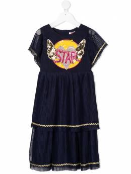 Billieblush плиссированное платье с пайетками U1259585T