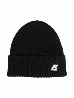 K Way Kids шапка бини в рубчик с нашивкой-логотипом KW0090G0