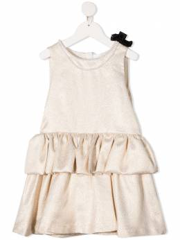 Charabia платье с оборками и эффектом металлик S1207559A