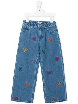 Kenzo Kids джинсы с вышивкой KR22018