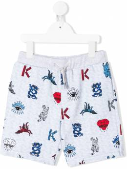 Kenzo Kids шорты с принтом Multi-Icon KQ25668