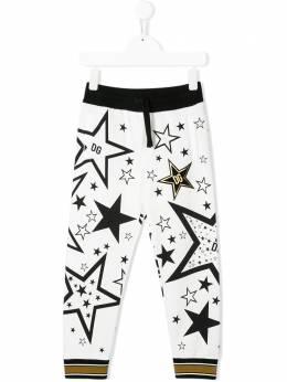 Dolce & Gabbana Kids спортивные брюки с принтом Millennials Star L4JPWIG7VBO