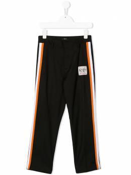 No.21 Kids строгие брюки с лампасами N2148MN0067