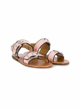 Gallucci Kids сандалии с ремешками и пряжками сбоку J10024HT053306A