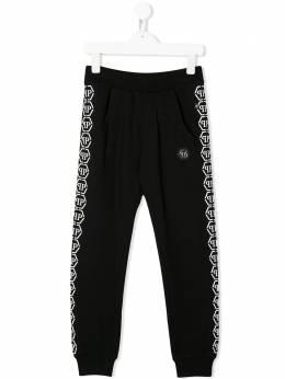 Philipp Plein Junior спортивные брюки с логотипом S20CBJT0317PJO002N
