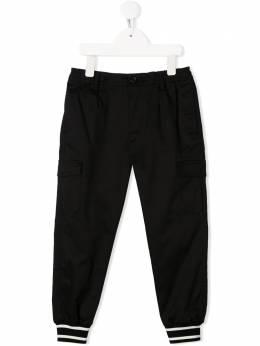 Dolce & Gabbana Kids брюки карго с отделкой в рубчик L43P28FUFJR