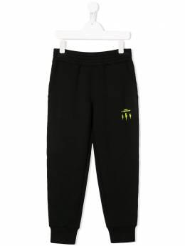 Neil Barrett Kids спортивные брюки с логотипами на лампасах 024395