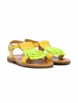 Gallucci Kids сандалии в стиле колор-блок с бахромой T00242ATA