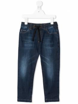 Dolce & Gabbana Kids прямые джинсы с кулиской L43P30LD878