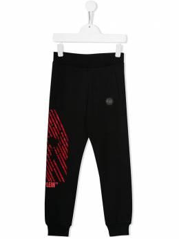 Philipp Plein Junior спортивные брюки с декором Skull A19CBJT0298PJO002N