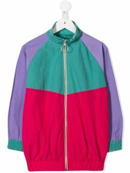 Andorine куртка-бомбер в стиле колор-блок ADS2036