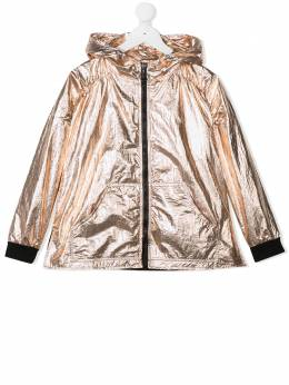 Andorine куртка с капюшоном и эффектом металлик ADS2007