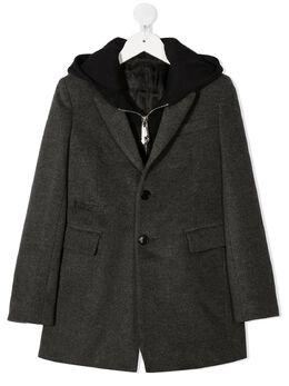 Philipp Plein Junior пальто-пиджак с капюшоном F20CBRA0028PTE003N