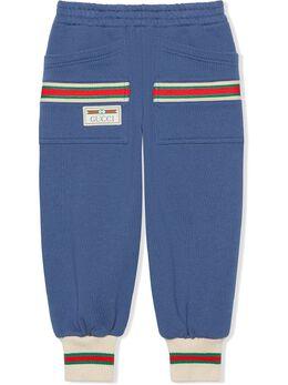 Gucci Kids спортивные брюки с отделкой Web 621845XJCSF