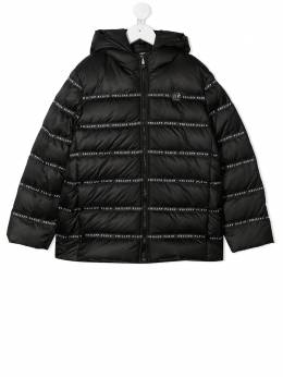 Philipp Plein Junior пуховик с логотипом F20CBRB0218PNY002N