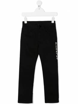 Givenchy Kids брюки строгого кроя с логотипом H1410409B