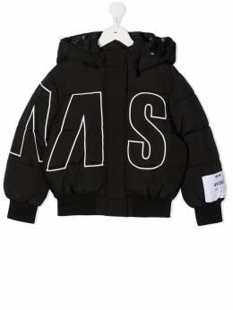 MSGM Kids пуховик с логотипом 025051