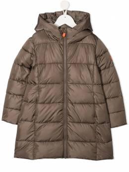 Save The Duck Kids длинное пальто-пуховик с капюшоном J4311GMEGAY