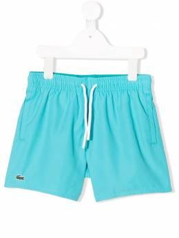 Lacoste Kids плавки-шорты с логотипом MJ475600PM7