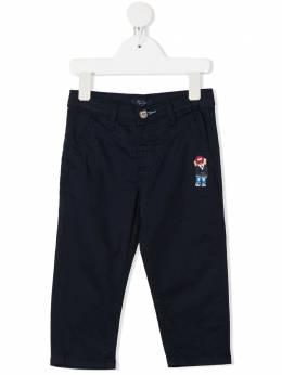 Harmont & Blaine Junior брюки чинос с вышивкой 202TJW001