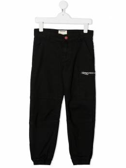 Zadig & Voltaire Kids укороченные брюки с молнией X24075091