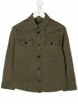Zadig & Voltaire Kids джинсовая куртка на пуговицах X15227656