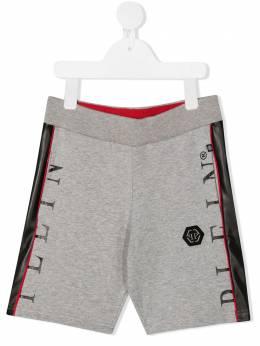 Philipp Plein Junior спортивные шорты с лампасами S20CBJT0315PJO002N