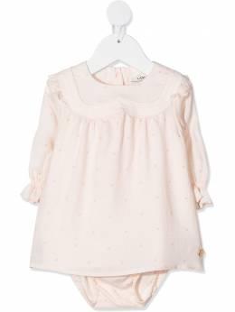 Lanvin Enfant платье в горох с оборками N98001
