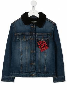 Zadig & Voltaire Kids джинсовая куртка с надписью X16051