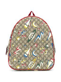 Gucci Kids рюкзак с графичным принтом и узором GG Supreme 4335782DHCN