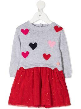 Billieblush многослойное платье с узором вязки интарсия U02279A32