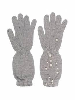 Monnalisa перчатки с искусственным жемчугом 796016