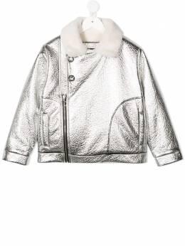 Andorine байкерская куртка с эффектом металлик ADW2012
