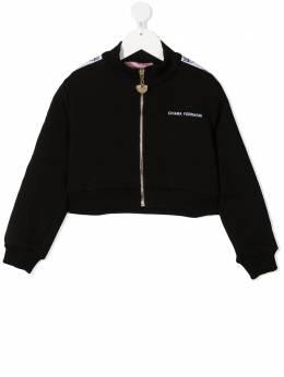 Chiara Ferragni Kids куртка на молнии с логотипом CFKF048