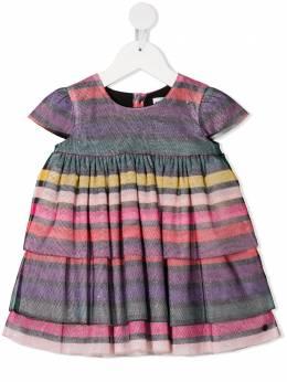 Sonia Rykiel полосатое платье с оборками 20W2DR28