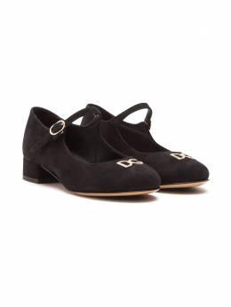 Dolce & Gabbana Kids туфли Мэри Джейн с логотипом D10537AC370