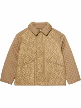 Burberry Kids стеганая куртка с логотипом 8036574