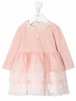 Familiar платье миди с оборками и вышивкой 129590