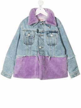 Natasha Zinko Kids джинсовая куртка с искусственным мехом FW20MNZ4058609I