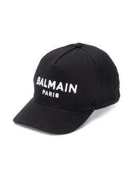 Balmain Kids бейсболка с вышитым логотипом 6M0787MX560