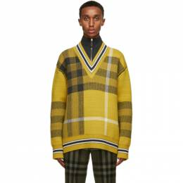 Burberry Yellow Check Fairhurst Sweater 8036604
