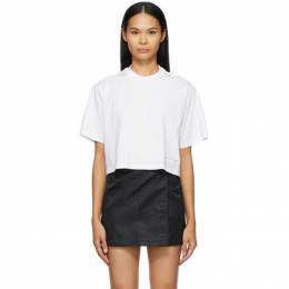 1017 Alyx 9Sm White Cropped Logo T-Shirt AAWTS0211FA01.S21