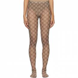 Gucci Beige GG Tights 523697 3GA35