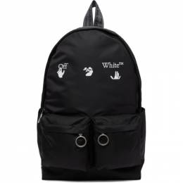 Off-White Black Logo Backpack OMNB003R21FAB0011001
