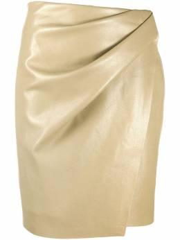 Nanushka юбка из искусственной кожи с запахом NW21RSSK00576