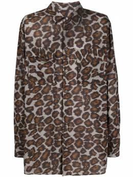 Nanushka рубашка с леопардовым принтом NM21SSSH00478