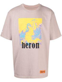 Heron Preston футболка с графичным принтом и логотипом HMAA020R21JER0046116