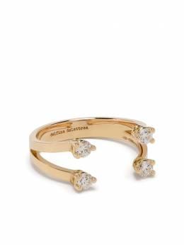 Delfina Delettrez кольцо Dots из желтого золота с бриллиантами NTL1028B
